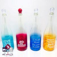 فروش عمده بطری آب مدل شیشه ای رنگی