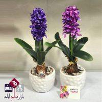 فروش عمده گلدان گل مصنوعی سنبل ریشه دار