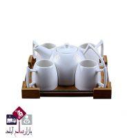 فروش عمده ست چای خوری بامبو ۶ پارچه