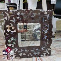 فروش عمده آینه چهارگوش تزئینی طرح دار