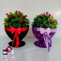 فروش عمده گلدان کادویی پاپیون دار