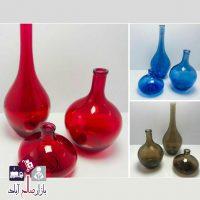 فروش عمده گلدان سالونگ ۳ تایی رنگی