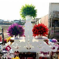 فروش عمده پایه گلدان سه طبقه سلطنتی