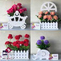 فروش عمده گلدان شلف پی وی سی