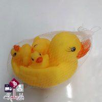 فروش عمده پوپت حمام ۴ عددی طرح اردک