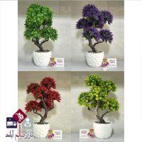 فروش عمده گلدان بنسای رنگی هفت کوپه