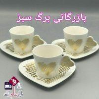 فروش عمده فنجان قهوه خوری طرح قلب