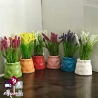 فروش عمده گلدان پاکتی گل مصنوعی سنبل
