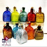 فروش عمده بطری آب شیشه ای دکوری