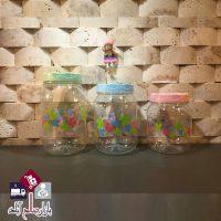 فروش عمده جا حبوباتی پلاستیکی گلدار