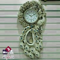 فروش عمده ساعت دیواری مدرن طرح طاووس