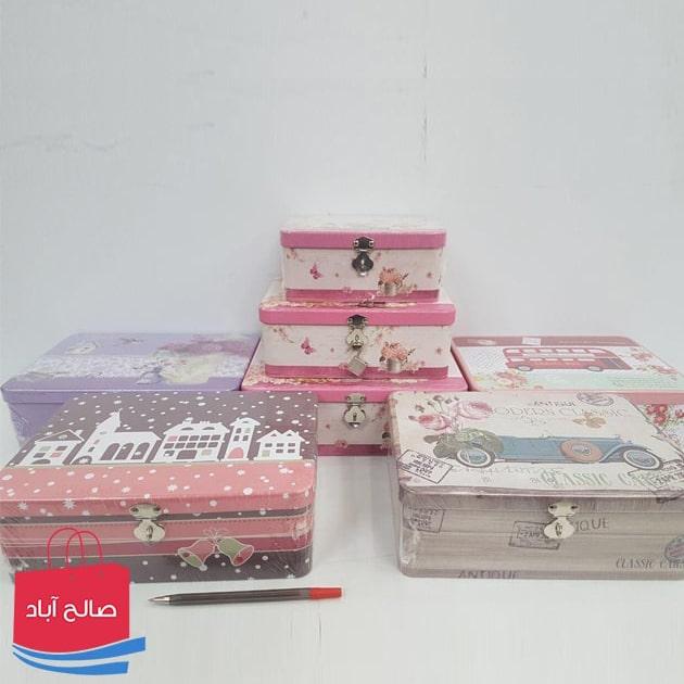 فروش عمده جعبه فلزی کادویی 3 تایی