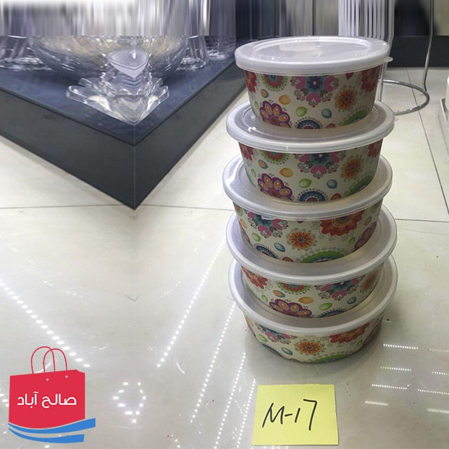 فروش عمده ظرف غذا بامبو پنج تایی