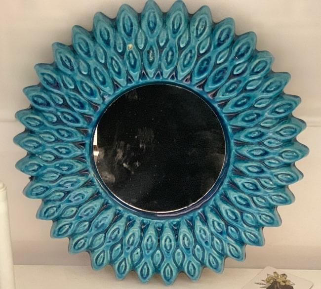 خرید عمده آینه سفالی طرح خورشید