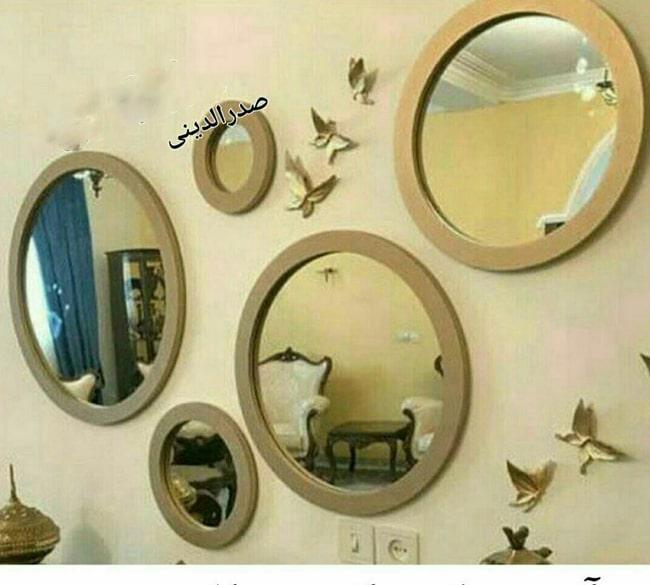 خرید عمده ست آینه دکوراتیو 5 تکه