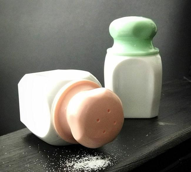 خرید عمده ست نمکدان دوتایی رنگی