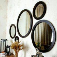 خرید عمده آینه پنج تکه گرد دکوراتیو