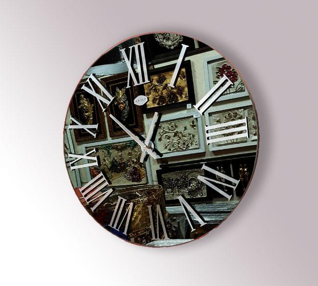 خرید عمده ساعت دیواری مدل آینه ای