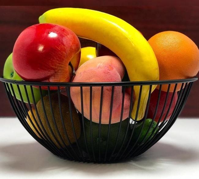 خرید عمده سبد میوه خوری گرد