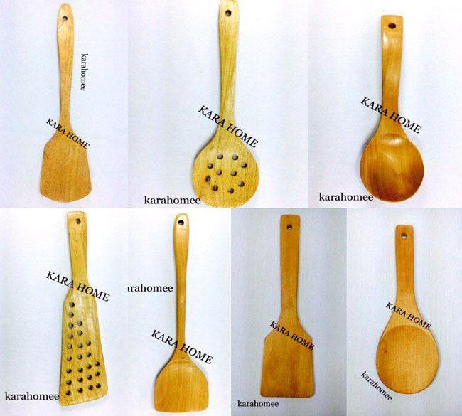 خرید عمده کفگیر و ملاقه چوبی بامبو
