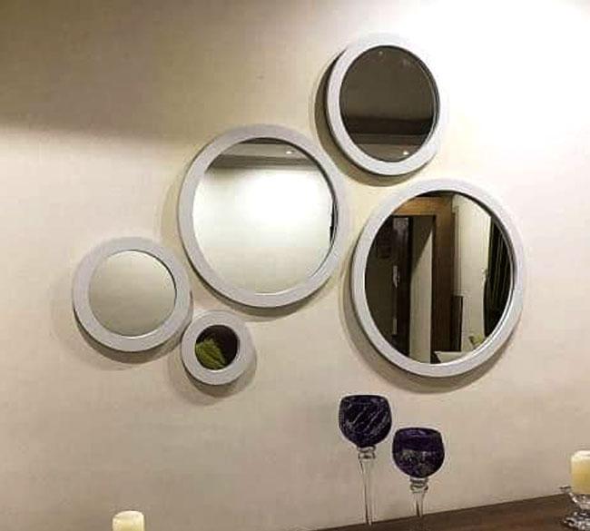 خرید عمده آینه دکوراتیو گرد ۵ تکه