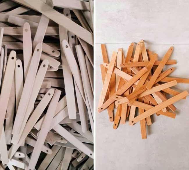 خرید عمده دسته چوبی کفگیر و لیسک