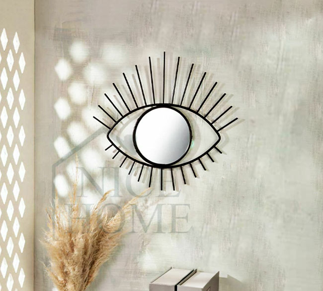 خرید عمده آینه طرح چشم دکوراتیو