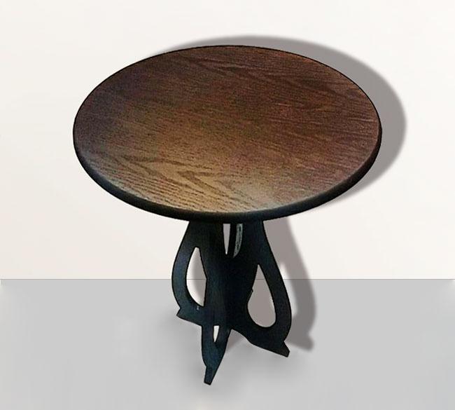 خرید عمده میز چوبی گرد خاطره