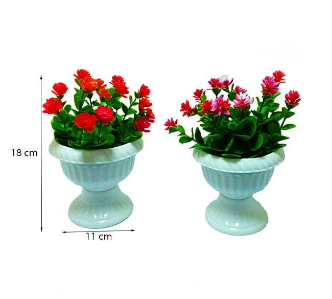 خرید عمده گل و گلدان مصنوعی پایه دار