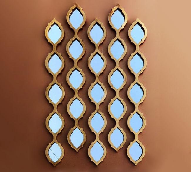 خرید عمده آینه دکوراتیو طرح ریسه