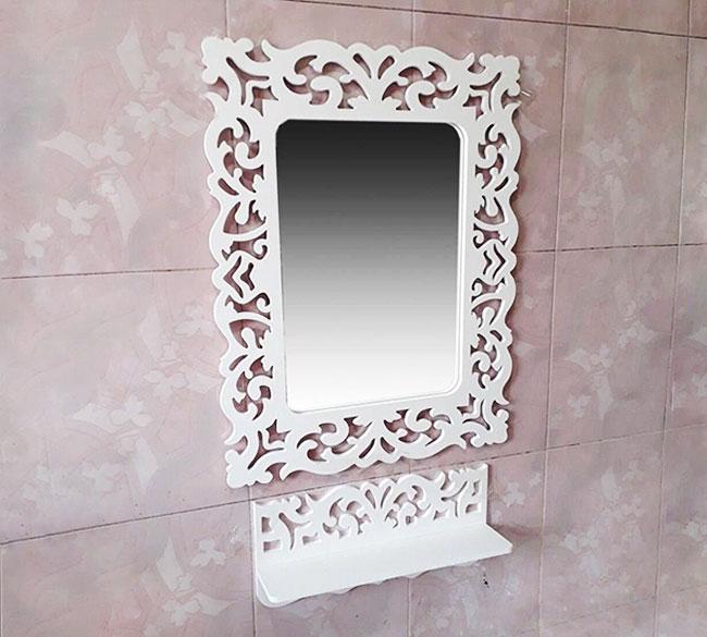 خرید عمده آینه و کنسول دیواری سفید